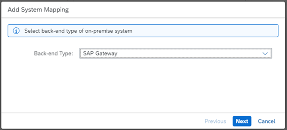 Selecting the On-Premise Server Type
